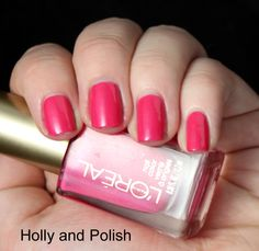 "loreal nail polish ""check me out"" - best drugstore nail polish I've EVER bought"
