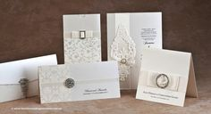 Ivory Grace, Phoenix, Glamour, Snowflake and Jewel wedding invitations by BLACK TIE WEDDING INVITATIONS - http://www.blacktieweddinginvitations.com.au/