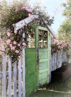 Beautiful! Use old doors as the gate to a secret garden! Love! Find the doors @ West End Salvage- you can find it all there!