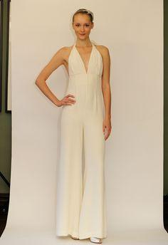 Temperley 2014 bridal pant suit.