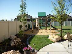 Play ground water feature, Backyard landscaping in South Jordan, Utah in South Jordan