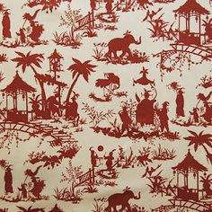 Quadrille toile-red elephants!  :)