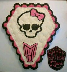 Monster High cupcake cake theme with crusted frosting!  Cupcakes by Mars, they're out of this world!!!