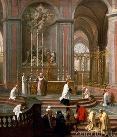 Jean-Baptiste Jouvenet - Die Messe des Abbé Delaporte vor dem Hochaltar von Notre-Dame in Paris