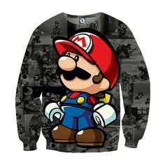Super Mario Collab Lego Figure Cool Streetwear Sweatshirt  #SuperMario #CollabLegoFigure #CoolStreetwearSweatshirt