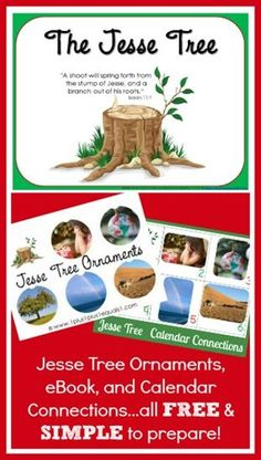Jesse Tree Collection ~ eBook, calendar cards, and printable ornaments...FREE from @{1plus1plus1} Carisa