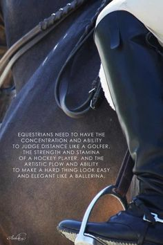 To all of you who think horse riding isn't a sport I want you to try riding and see that this quote is true