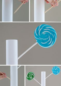 DIY lollipop trees. Will be making these for party tables!