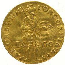 Holland - Dukaat 1800 Bataafse Republiek - goud