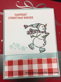 Stampin' Up!, 2018 Holiday Catalog, www.stampingwithsusan.com, Spirited Snowmen, Buffalo Check, Stampin' Blends