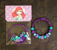 8 Ariel Little Mermaid Birthday or Slumber by MichelleAndCompany... cute favor idea for the girls! can make these!