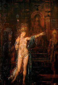 Gustave Moreau  [1826-1898]  Salomé dansant devant Hérode, 1871  oil on canvas  Musée Gustave Moreau, Paris, France