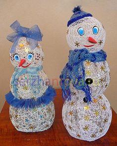 christmas crafts, handmade home decorations, snowman christmas tree ornaments