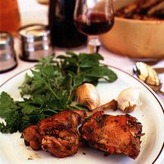 Rabbit in Red Wine Recipe Main Dishes with rabbit, extra-virgin olive oil, garlic, scallions, mint, red wine