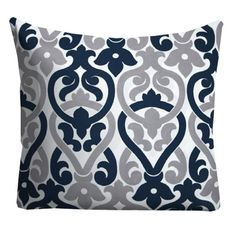 Navy Grey Outdoor Pillows, Outdoor Throw Pillows, Patio Pillows, Pool Pillows, Pillow Covers, Outside Pillows, Deck pillows
