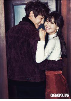 Kwak Si Yang & Kim So Yeon for Cosmopolitan Korea January 2016. Photographed by Kim Oi Mil