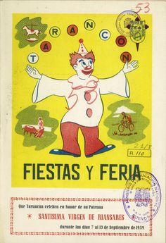 Programa de las fiestas en honor a la Virgen de Riánsares en Tarancón (Cuenca) del 13 al 17 de septiembre de 1959 Toros, actuaciones y verbenas #Fiestaspopulares #Tarancon #Cuenca
