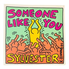 Cover Illustration: Keith Haring Album: Someone Like You Maxi-SIngle) Artist: Sylvester Label: Warner Brothers A) Year: 1986 Condition Notes: Original 1986 Release. Vinyl Record Art, Vintage Vinyl Records, World Music, Cover Art, Vinyl Cover, Jm Basquiat, Album Vintage, James Rosenquist, Keith Haring Art