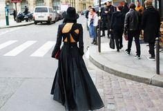 Street style at Paris Fashion Week Fall 2014.