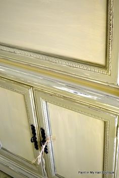 Paint in my hair:Chalk Paint® decorative paint by Annie Sloan: Old White, Versailles, Chateau Grey Hutch