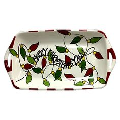 """Merry Christmas Y'all"" Ceramic Casserole Dish"