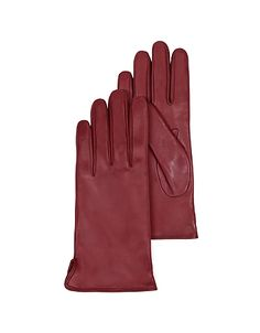 Burgundy Leather Women's Gloves w/Cashmere Lining #DesignerHandbags #DesignerShoes