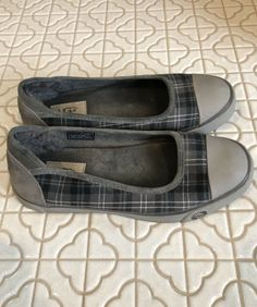 3126f66d9c80 Womens UGG Australia Gray Plaid Slip On Ballet Flats Shoes US 8M EUR 39   fashion  clothing  shoes  accessories  womensshoes  flats (ebay link)