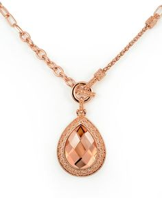 Richly Detailed Rose Gold Statement Necklace