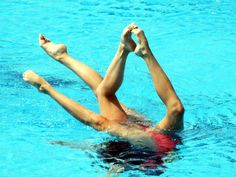 Olympic Games Barcelona Spain Women's Synchronised Swimming Duet THE EUN team in action
