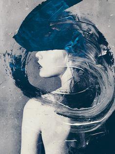 Art :: Photography artwork by michal mozolewski L'art Du Portrait, Abstract Portrait, Abstract Art, Art Du Collage, Op Art, Arte Pop, Art Moderne, Oeuvre D'art, Dark Art