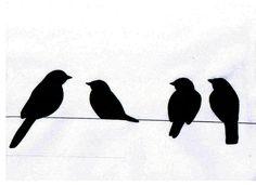 Resultado de imagem para birds on a wire art Vogel Clipart, Bird Clipart, Vogel Silhouette, Animal Silhouette, Bird Template, Bird Stencil, Bird Patterns, Stencil Designs, Wire Art