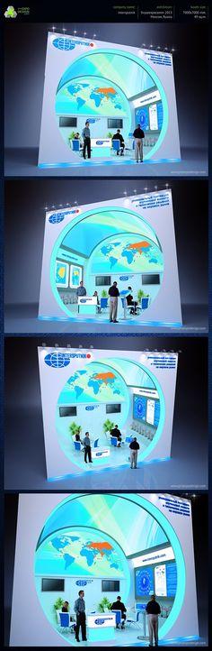 Intersputnik exhibition booth design on Behance