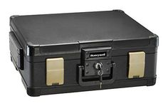 Fire Water Chest Safe Waterproof Security Box Lock Key Fireproof Legal Documents #Honeywell