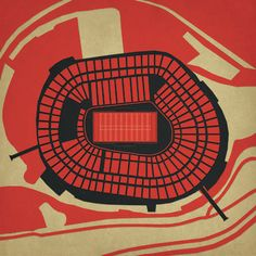 Candlestick Park, San Francisco, California - from NFL stadium series by City Prints Art Maps