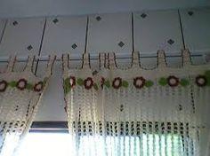 Resultado de imagem para cortinas para pia de croche com graficos