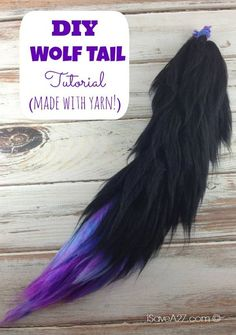 Costume Wolf Tail Tutorial instructions included