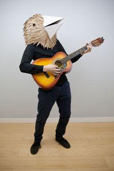Cardboard bird mask More