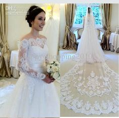 Wholesale wedding stores, debenhams wedding dresses and buy dresses online on DHgate.com are fashion and cheap. The well-made  Inspired by Wanda Borges Wedding Dresses Hot Sale Off-shoulder Lace Applique 3/4 Sleeve Lace Design Muslin Wedding Dresses sold by happy-shopping2010 is waiting for your attention.