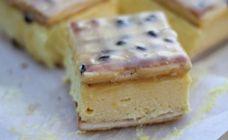 No bake Vanilla slice