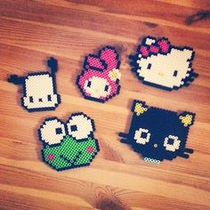Sanrio characters perler beads by laffyxtaffy1990 hello kitty