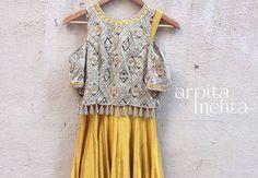 Arpita Mehta # cold shoulder # indo western look # fusion wear