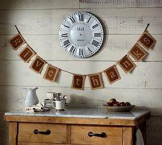 Give Thanks Banner #potterybarn