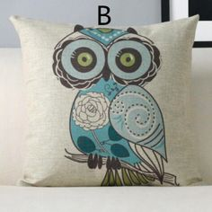 Colorful owl decorative pillows for couch animal cushion so cheap