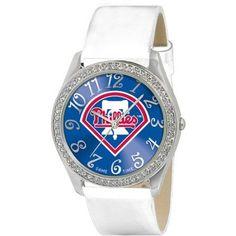 Game Time MLB Women's Philadelphia Phillies Glitz Watch, Silver