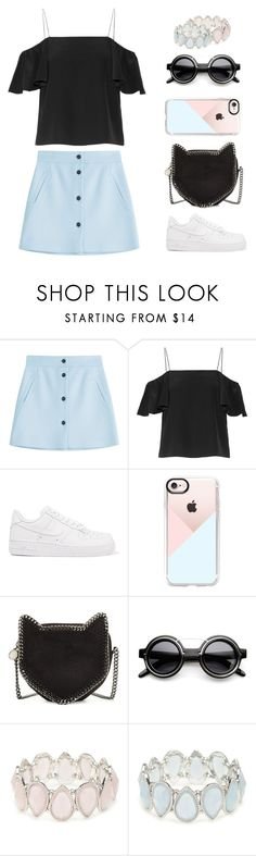 """Ruffle Top"" by krgood7 ❤ liked on Polyvore featuring Paul & Joe, Fendi, NIKE, Casetify, STELLA McCARTNEY, ZeroUV, Kim Rogers, pastel, ruffletop and catbag"
