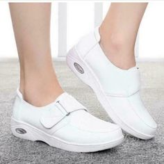 Womens Sport White Skidproof Nursing Shoes Hospital Footware Work Shoes Causal X in Clothing, Shoes & Accessories, Women's Shoes, Flats & Oxfords Pump Shoes, New Shoes, Women's Shoes, Nursing Shoes Comfortable, White Flat Shoes, Black Shoes, Spring Shoes, Womens Flats, Footwear