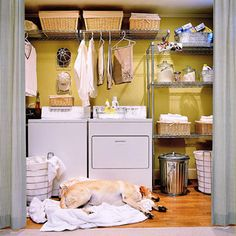 Storage in the Laundry Room