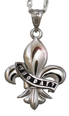 """WHO DAT?"" pendant by Anne Dale in New Orleans"