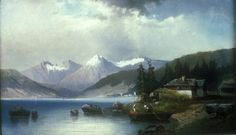Swiss Lake Scene, William Charles Anthony Frerichs, Gift of the Cape Fear Corporation
