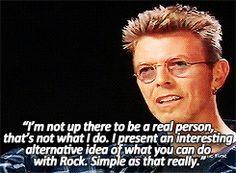 it's a little Bowie